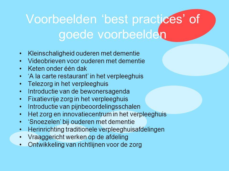 Voorbeelden 'best practices' of goede voorbeelden