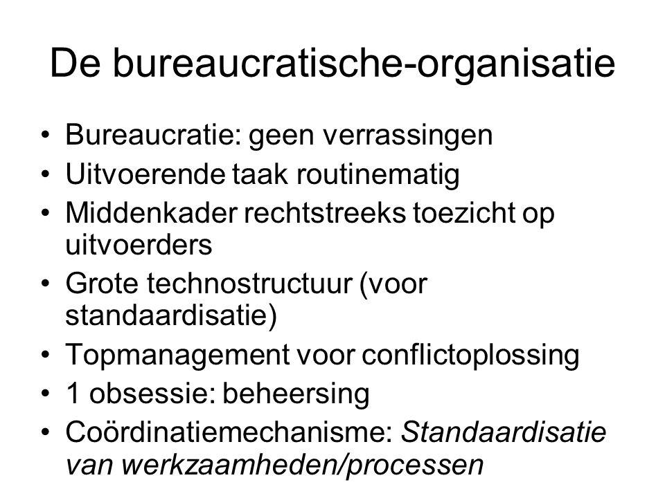 De bureaucratische-organisatie