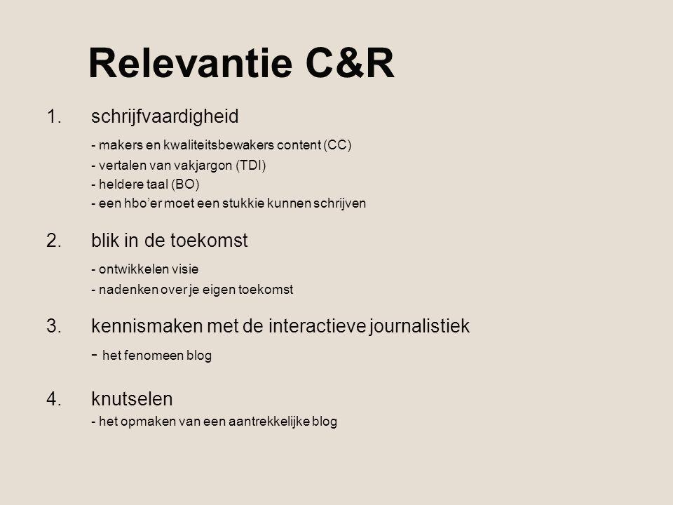 Relevantie C&R schrijfvaardigheid