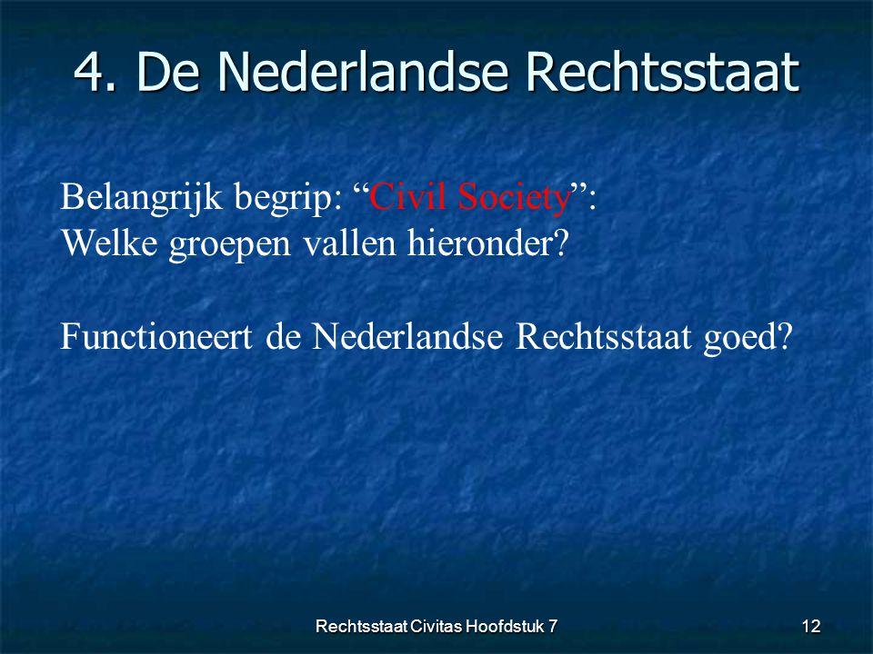 4. De Nederlandse Rechtsstaat