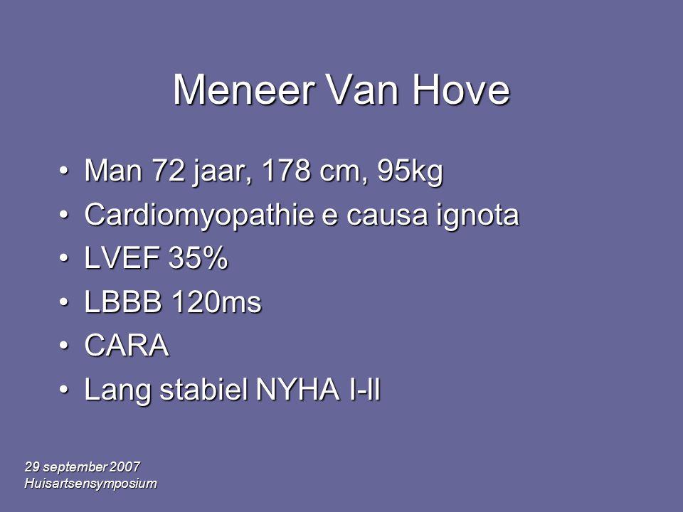 Meneer Van Hove Man 72 jaar, 178 cm, 95kg