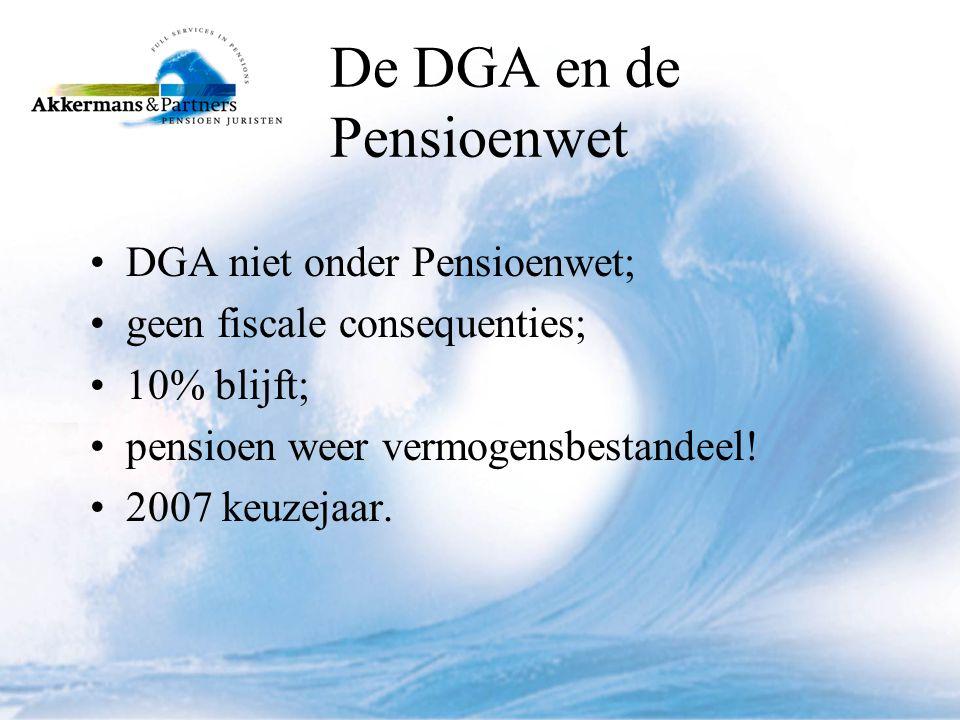 De DGA en de Pensioenwet