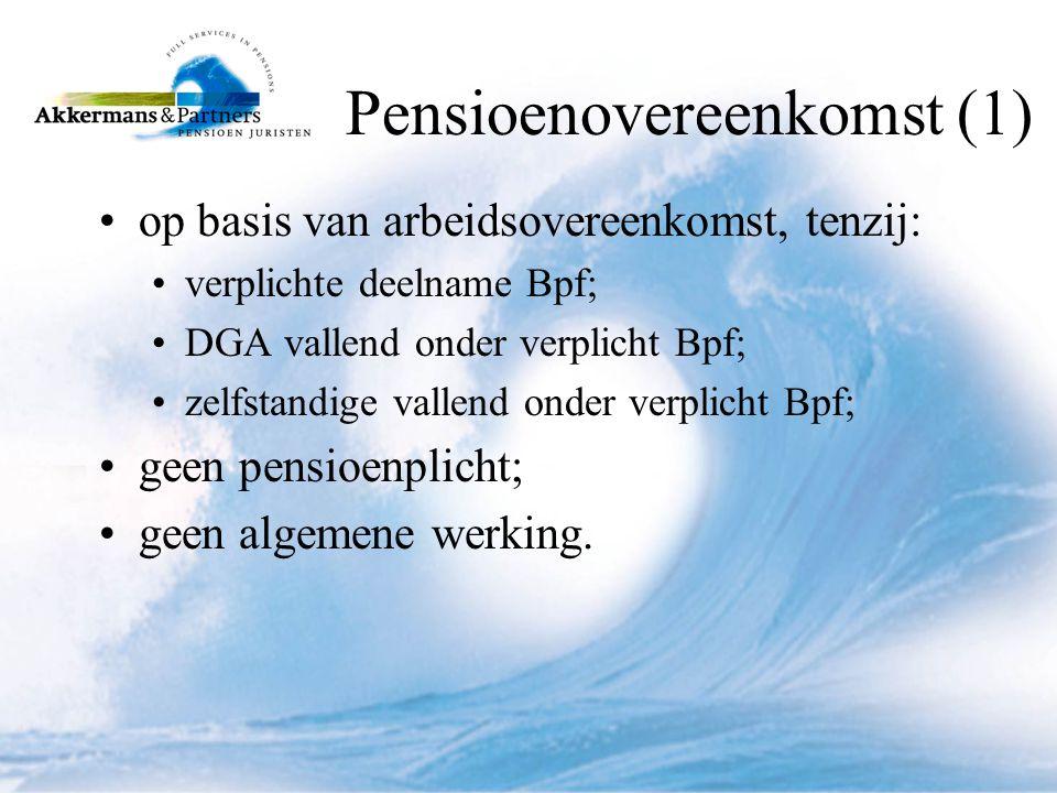 Pensioenovereenkomst (1)