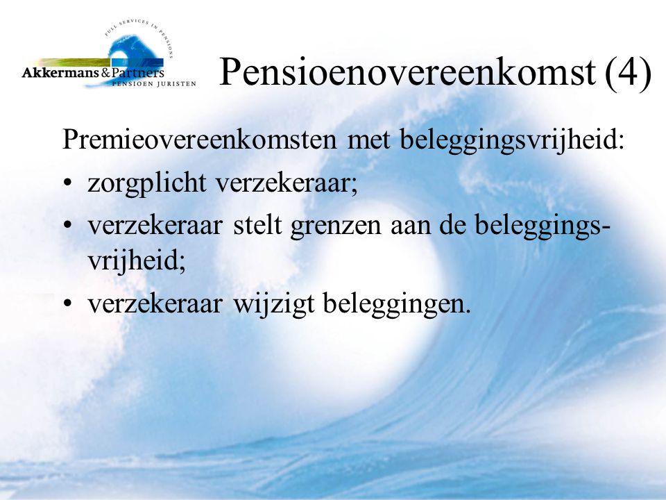 Pensioenovereenkomst (4)