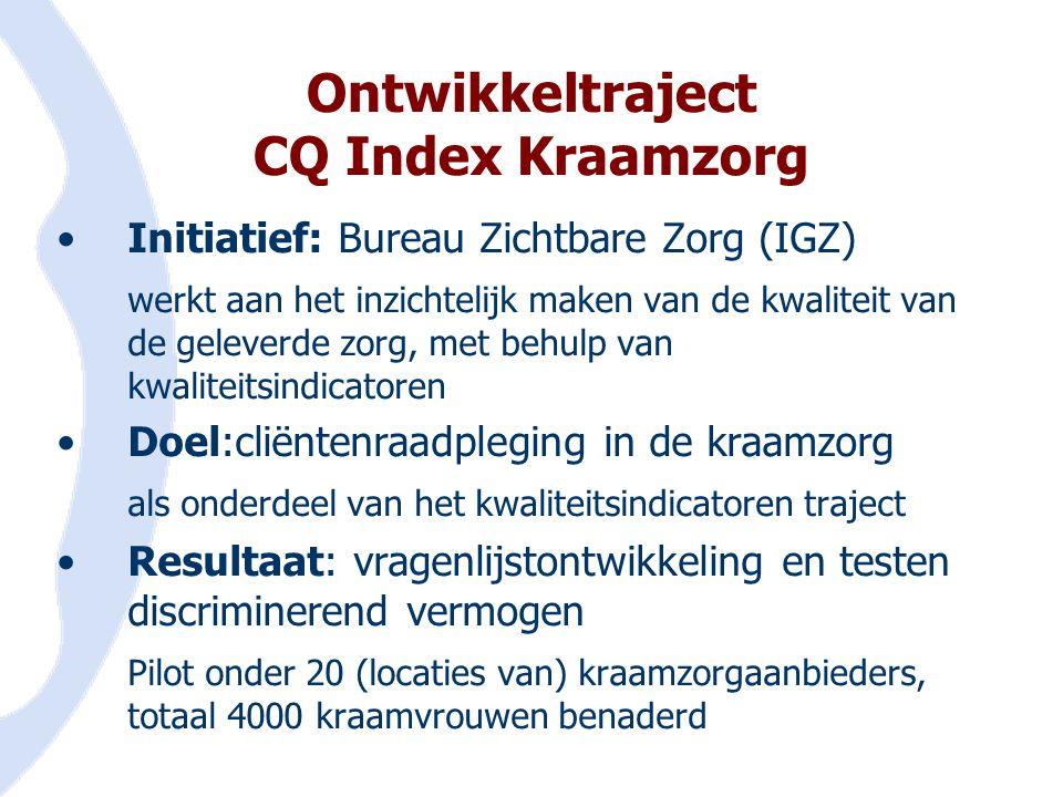 Ontwikkeltraject CQ Index Kraamzorg
