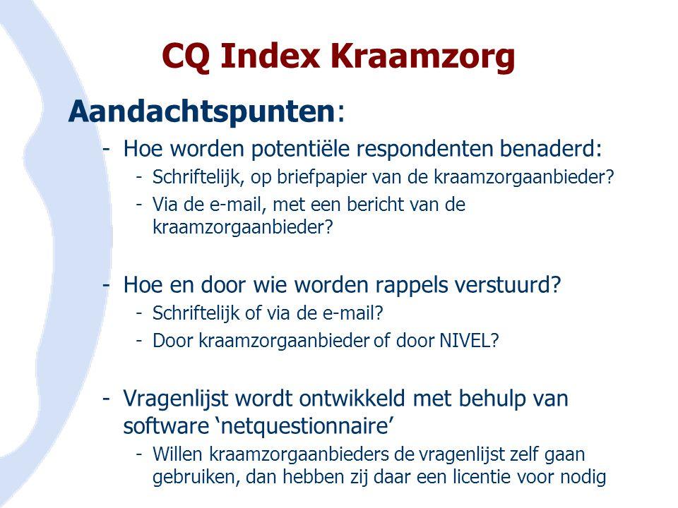 CQ Index Kraamzorg Aandachtspunten: