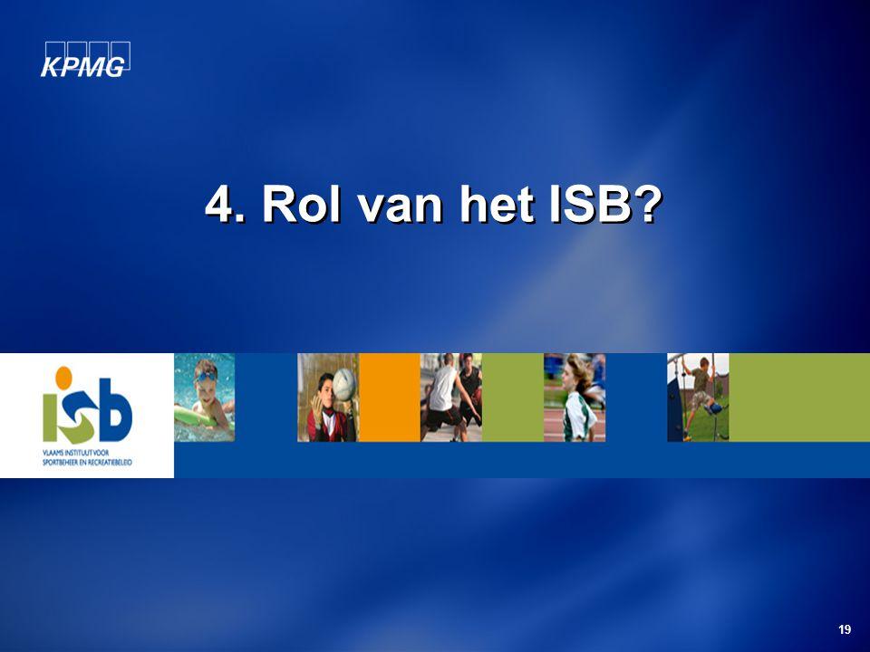 4. Rol van het ISB