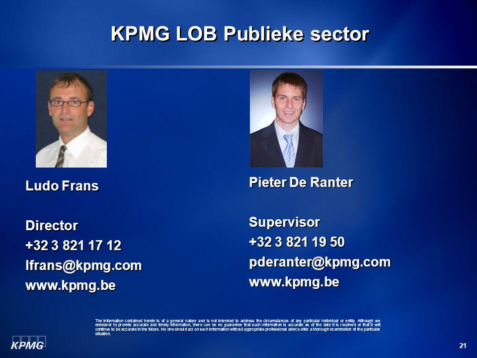 KPMG LOB Publieke sector