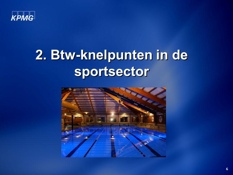 2. Btw-knelpunten in de sportsector