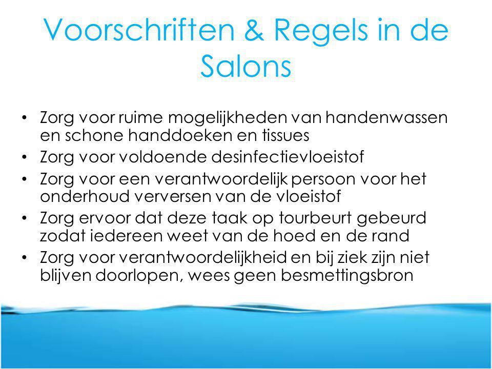 Voorschriften & Regels in de Salons