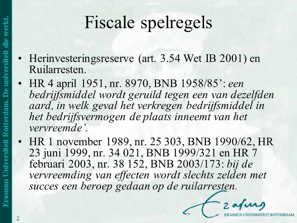 Fiscale spelregels Herinvesteringsreserve (art. 3.54 Wet IB 2001) en Ruilarresten.