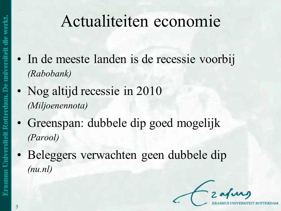 Actualiteiten economie
