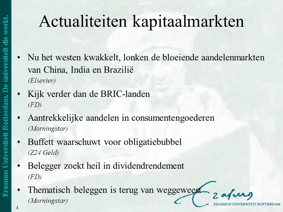 Actualiteiten kapitaalmarkten