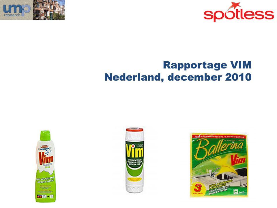 Rapportage VIM Nederland, december 2010