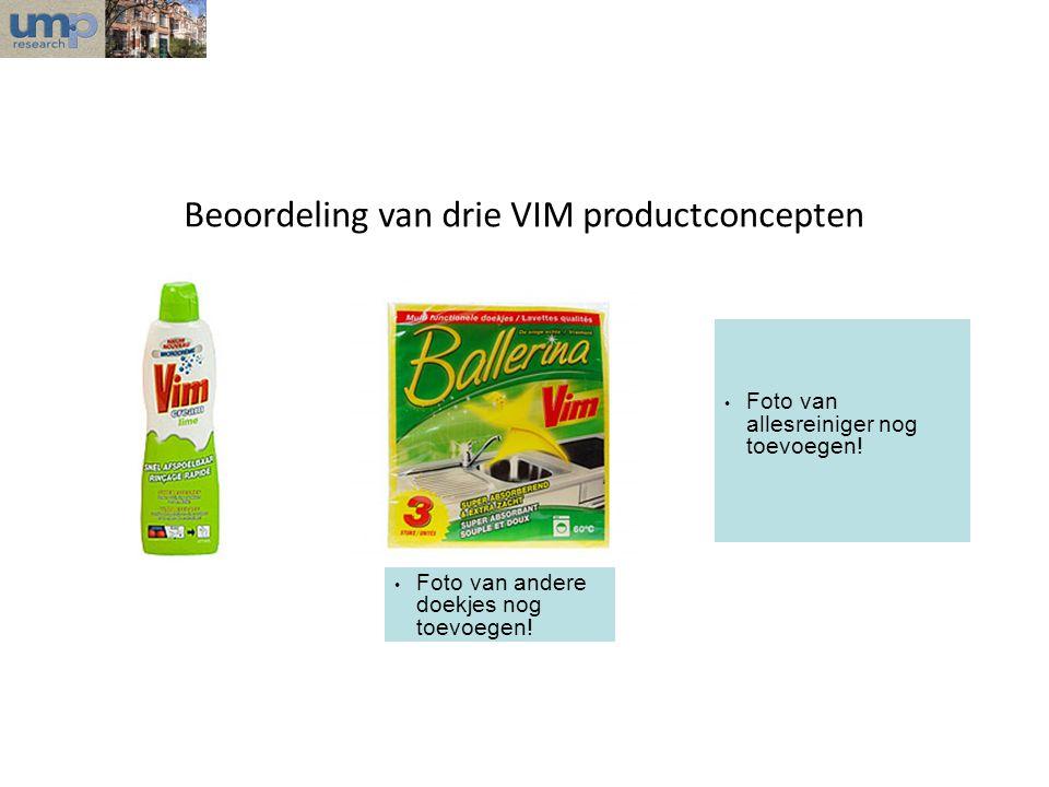Beoordeling van drie VIM productconcepten