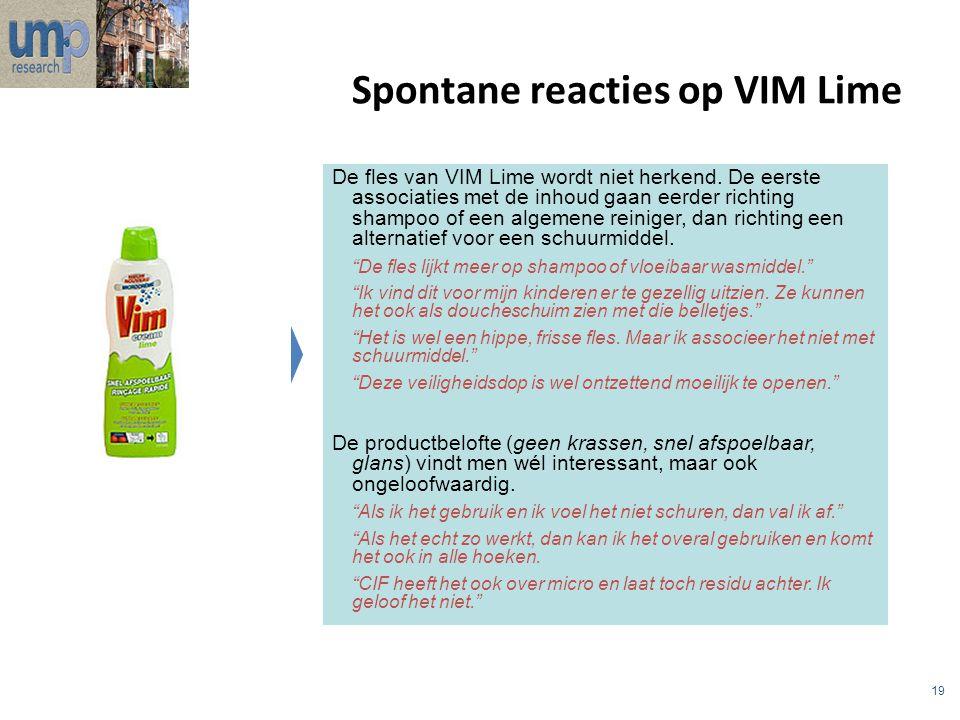 Spontane reacties op VIM Lime