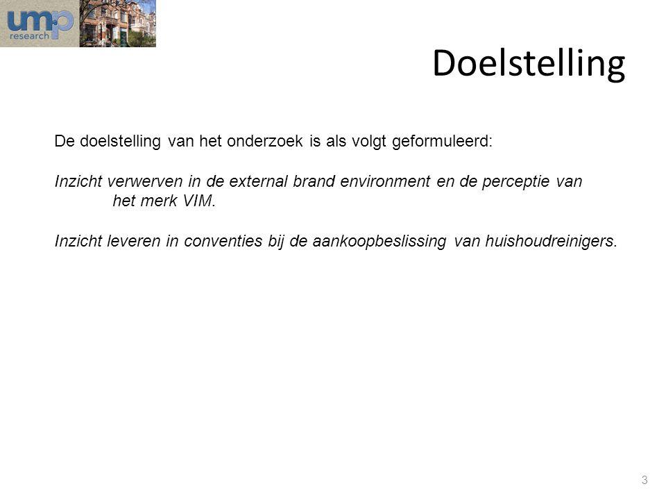 Doelstelling De doelstelling van het onderzoek is als volgt geformuleerd: