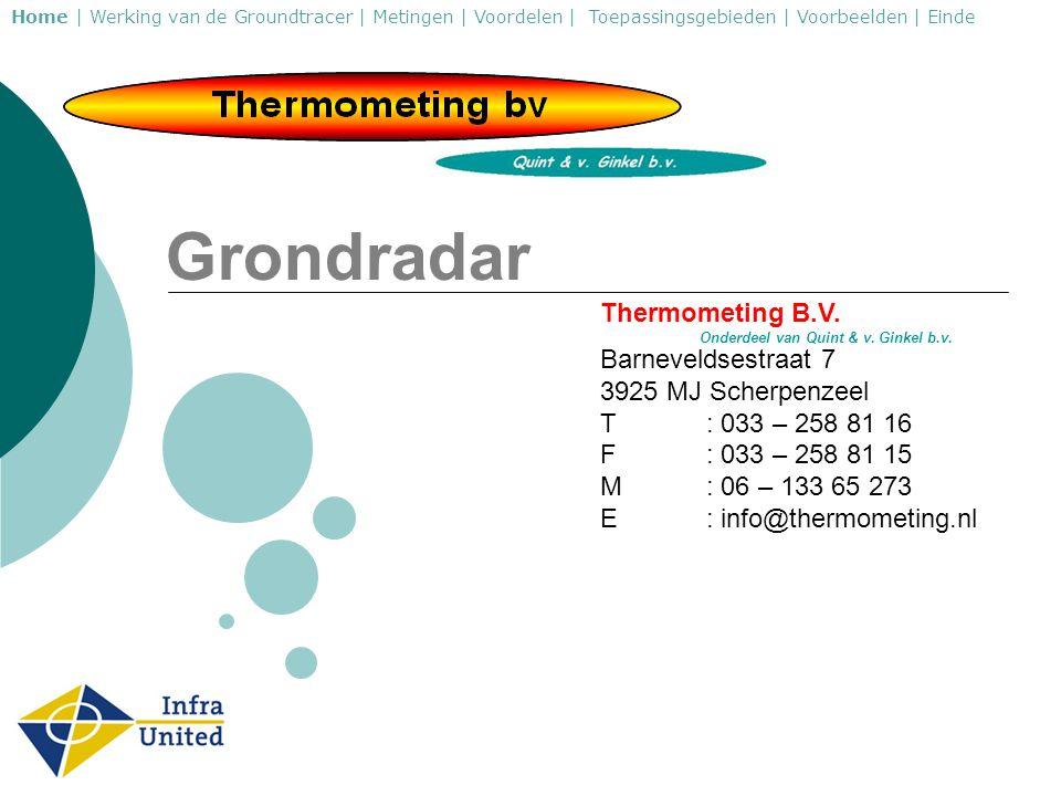 Grondradar Thermometing B.V. Barneveldsestraat 7 3925 MJ Scherpenzeel