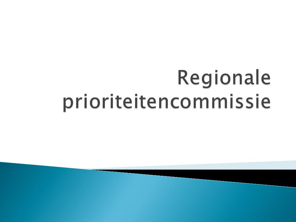 Regionale prioriteitencommissie