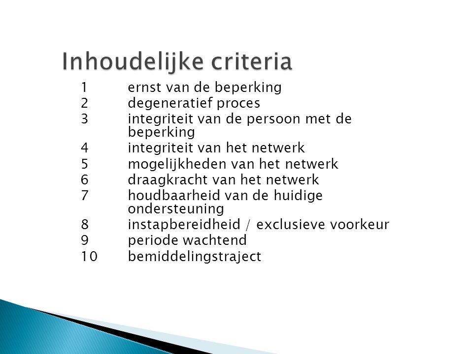 Inhoudelijke criteria