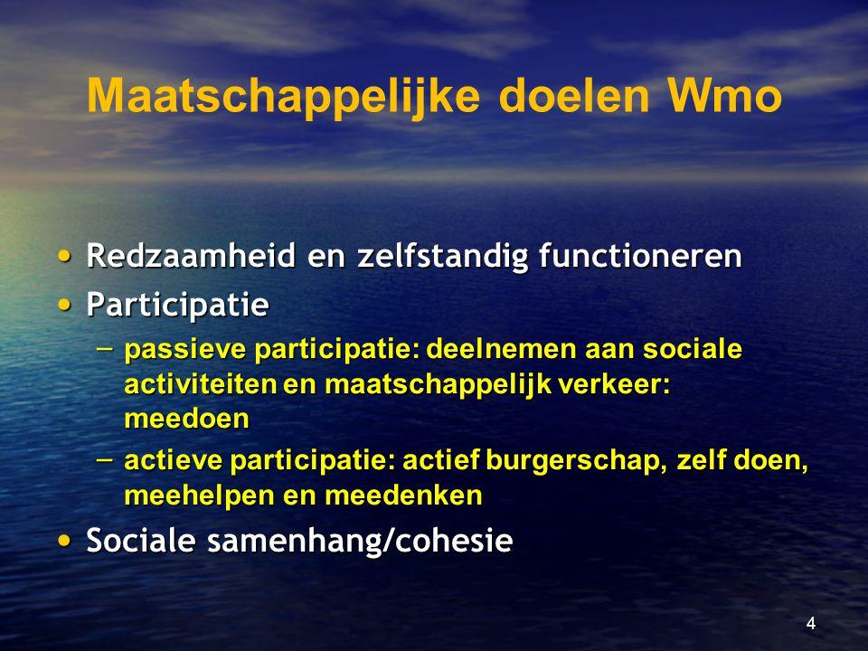 Maatschappelijke doelen Wmo
