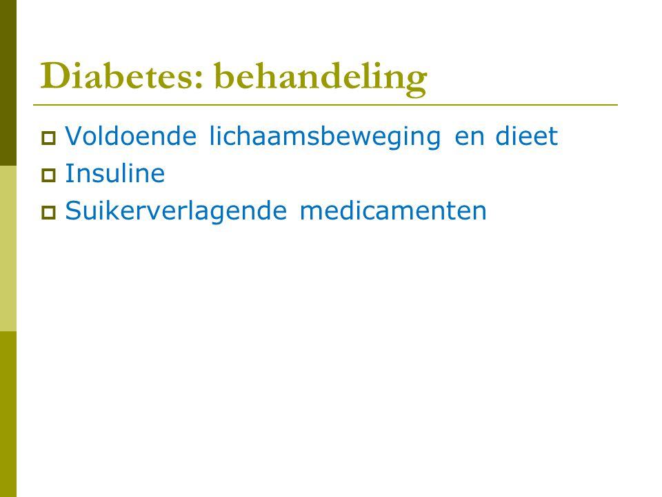 Diabetes: behandeling