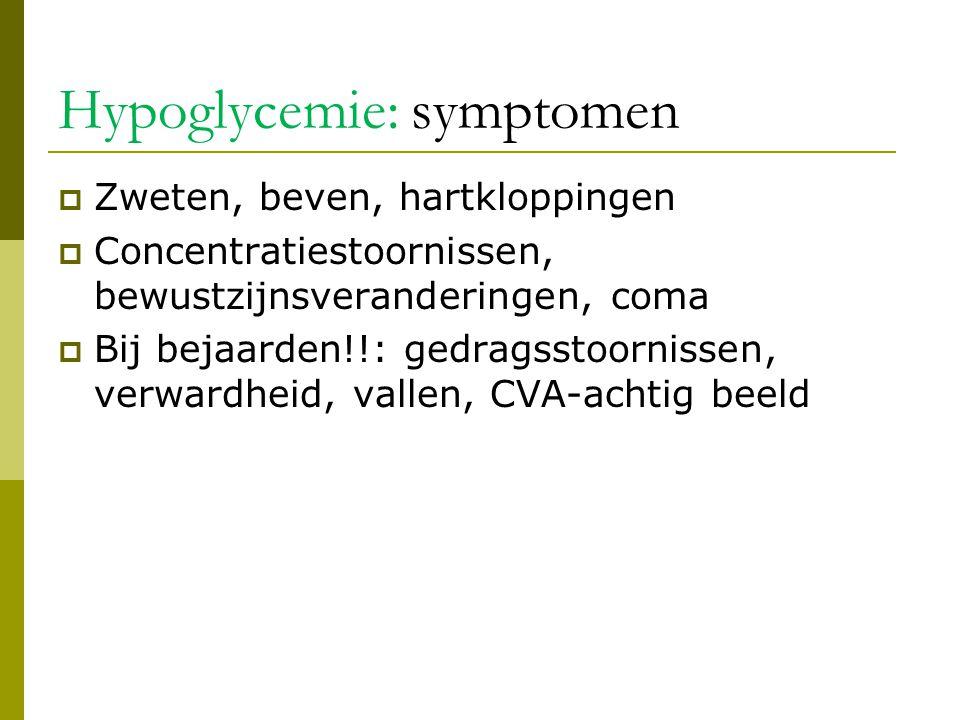 Hypoglycemie: symptomen