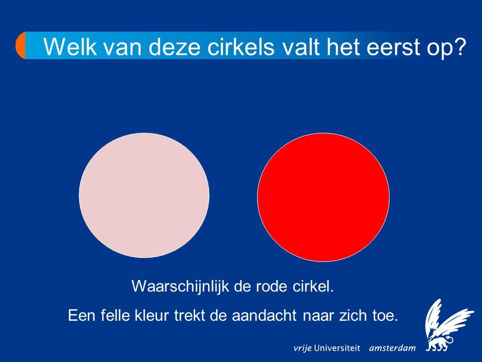 Welk van deze cirkels valt het eerst op