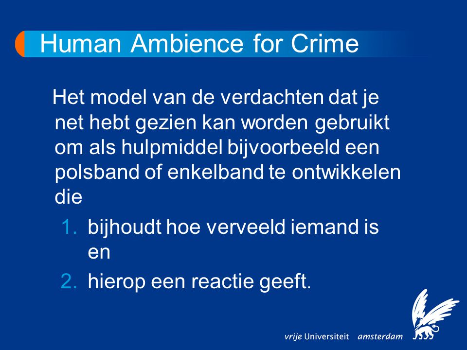Human Ambience for Crime