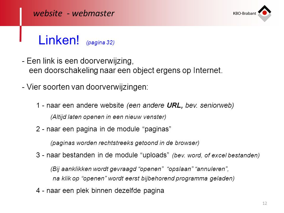 Linken! (pagina 32) website - webmaster
