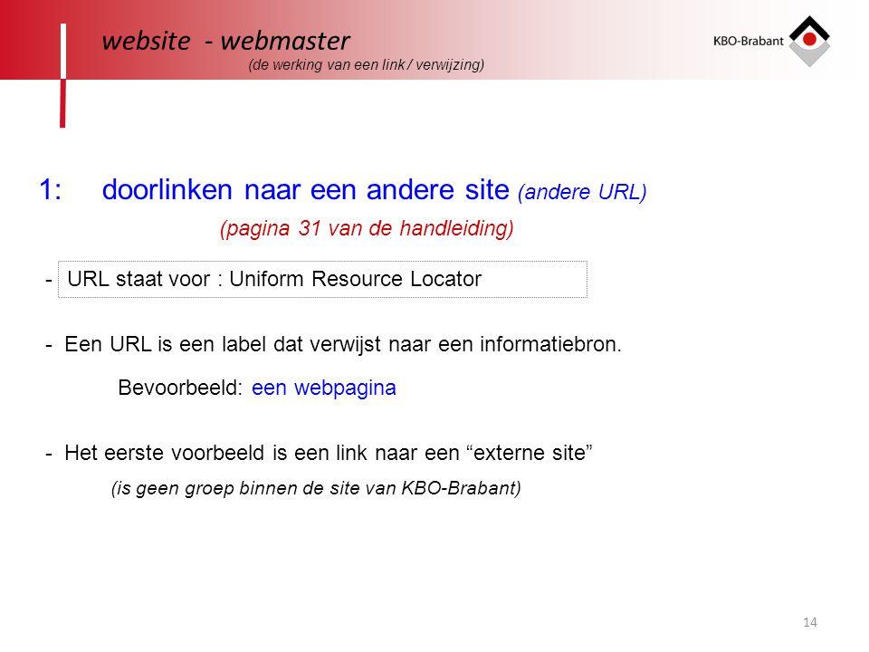 1: doorlinken naar een andere site (andere URL)