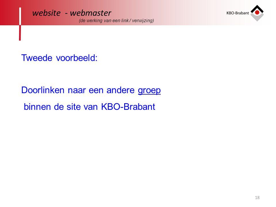 Doorlinken naar een andere groep binnen de site van KBO-Brabant