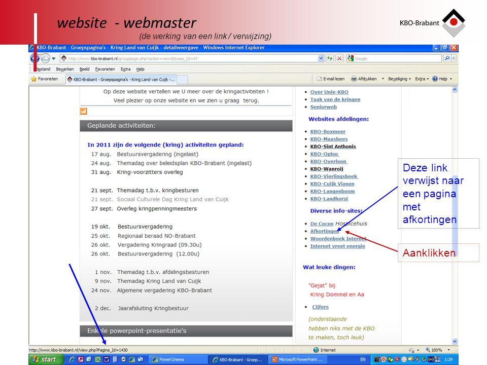 website - webmaster Deze link verwijst naar een pagina met afkortingen
