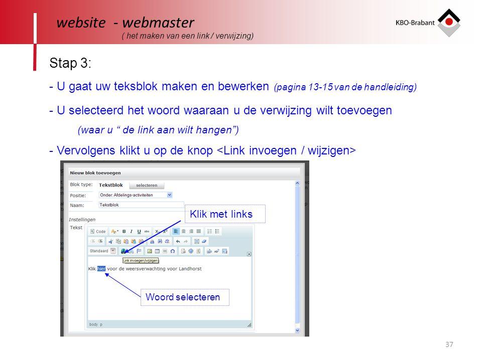 website - webmaster Stap 3: