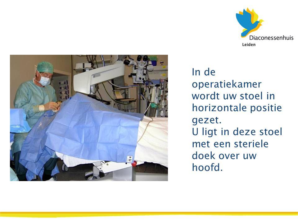 In de operatiekamer wordt uw stoel in horizontale positie gezet