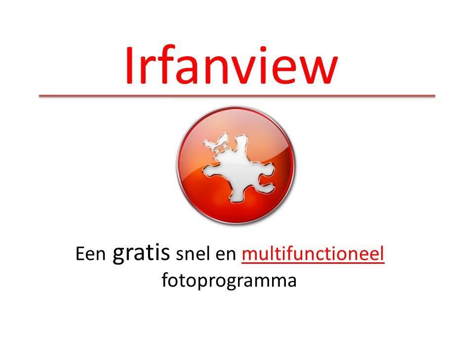 Een gratis snel en multifunctioneel fotoprogramma