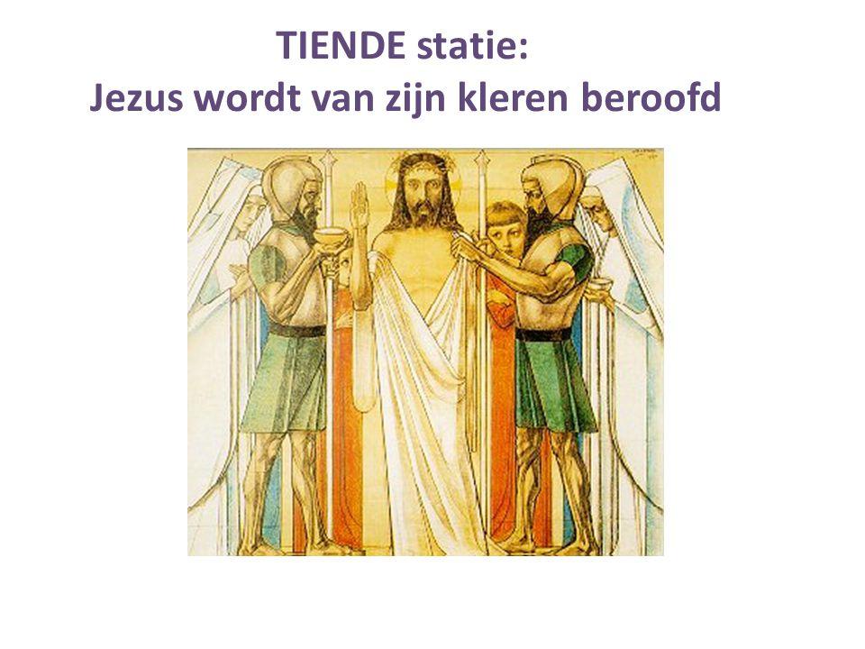 Jezus wordt van zijn kleren beroofd