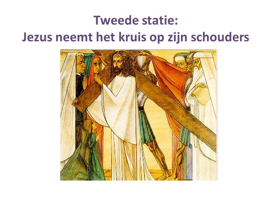 Jezus neemt het kruis op zijn schouders