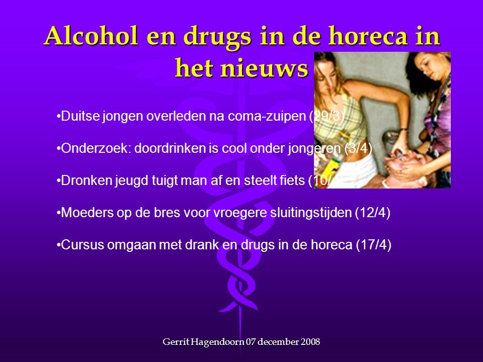 Alcohol en drugs in de horeca in het nieuws