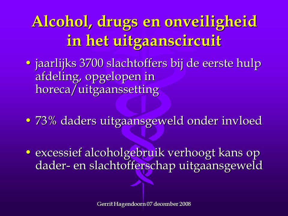 Alcohol, drugs en onveiligheid in het uitgaanscircuit