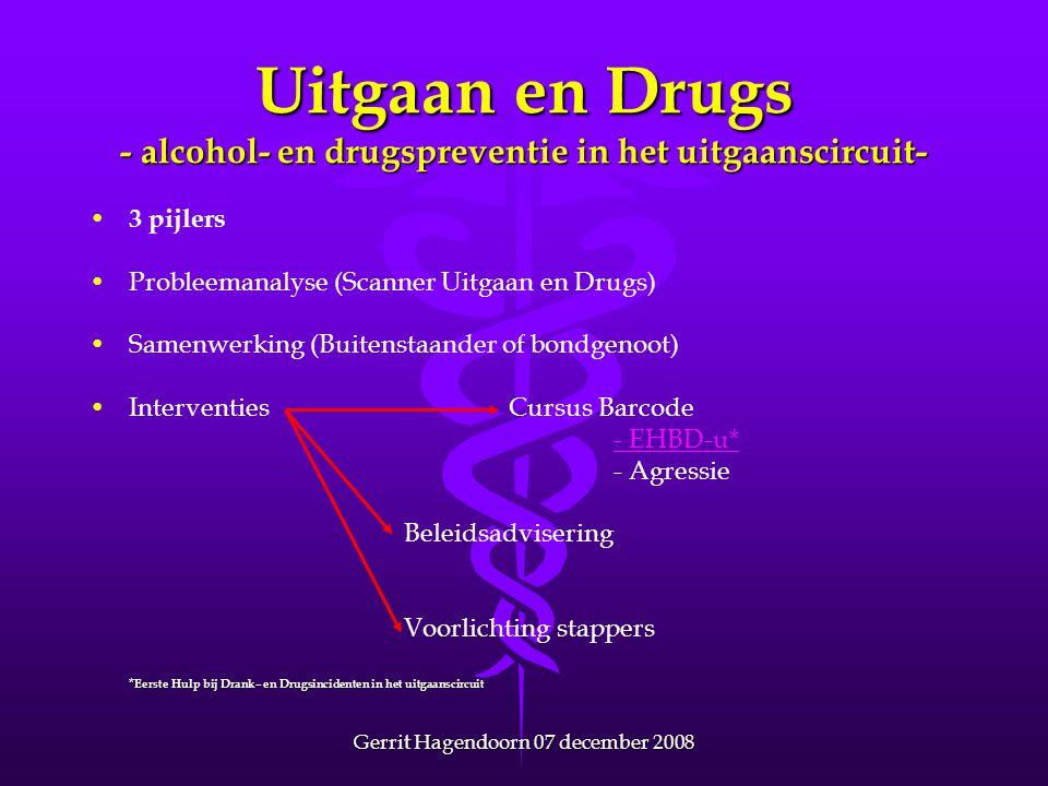 Uitgaan en Drugs - alcohol- en drugspreventie in het uitgaanscircuit-