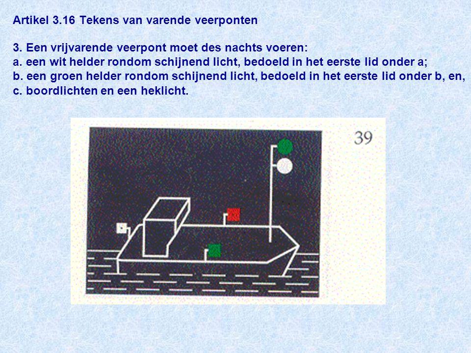 Artikel 3. 16 Tekens van varende veerponten 3