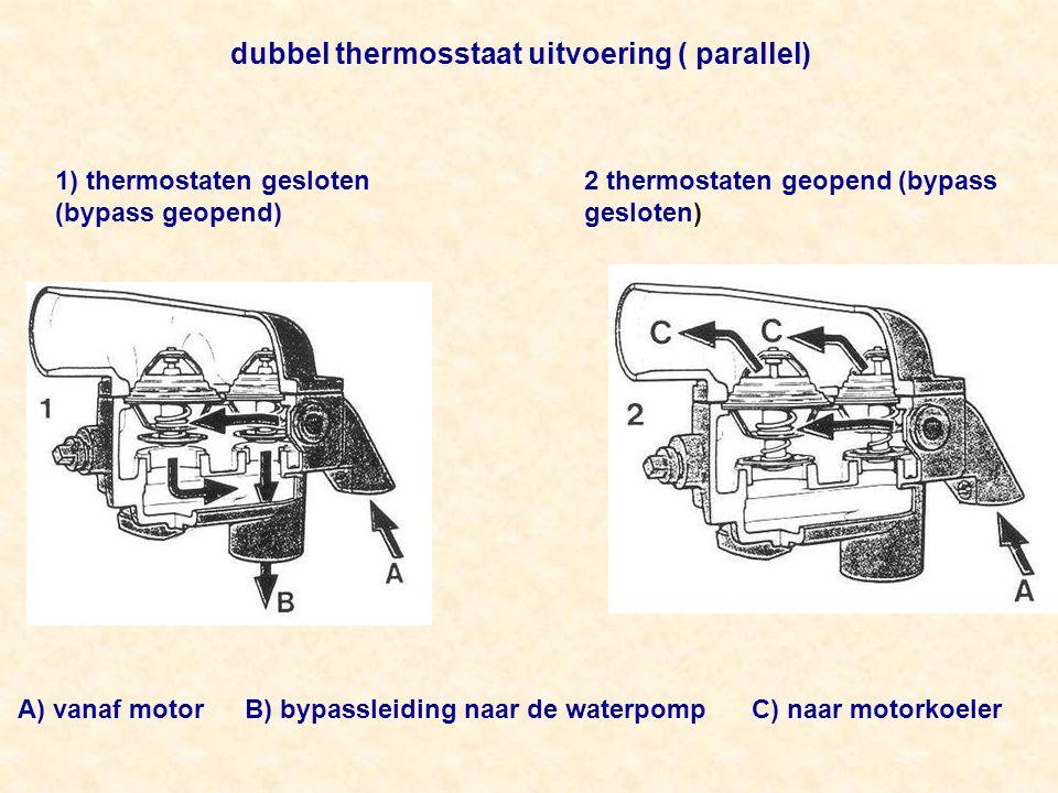 dubbel thermosstaat uitvoering ( parallel)