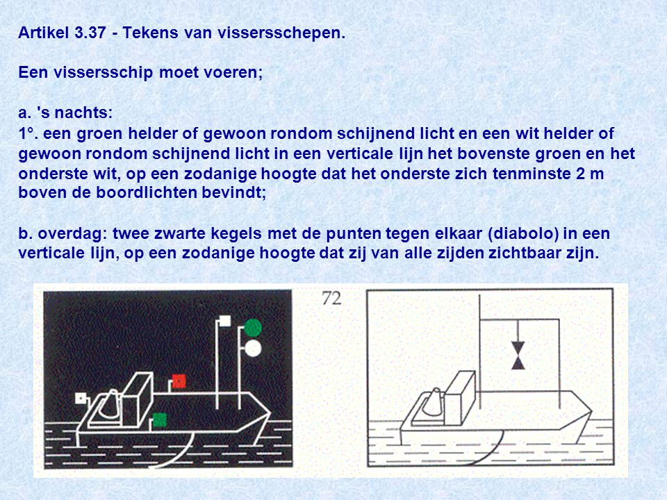 Artikel 3. 37 - Tekens van vissersschepen