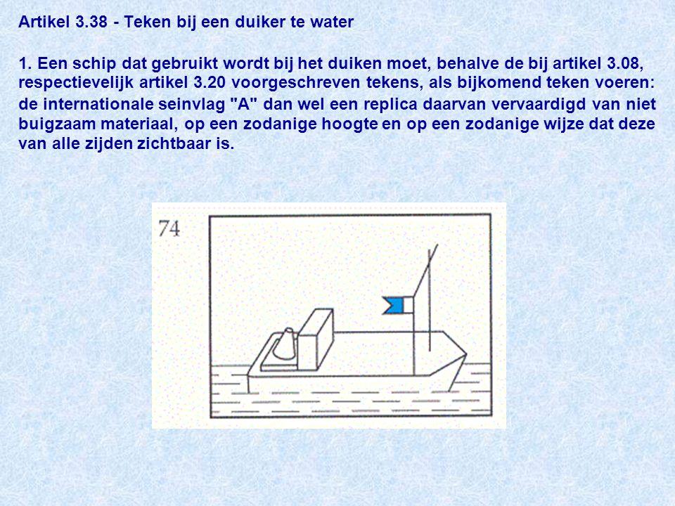 Artikel 3. 38 - Teken bij een duiker te water 1