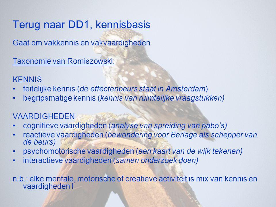 Terug naar DD1, kennisbasis