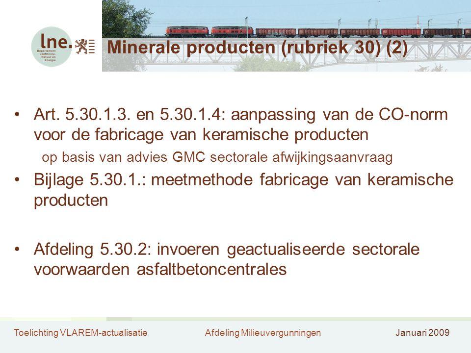Minerale producten (rubriek 30) (2)