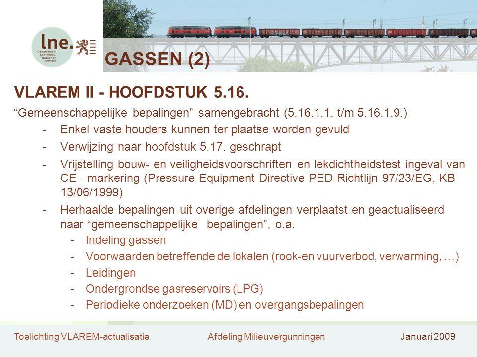 GASSEN (2) VLAREM II - HOOFDSTUK 5.16.