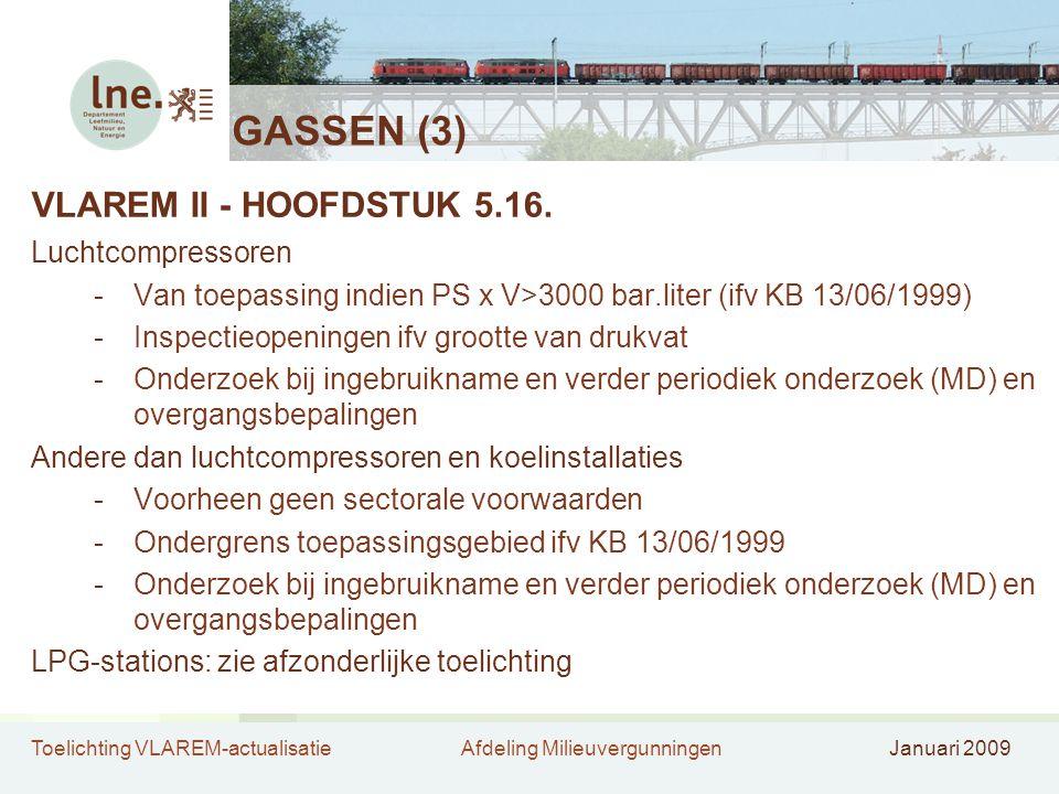 GASSEN (3) VLAREM II - HOOFDSTUK 5.16. Luchtcompressoren