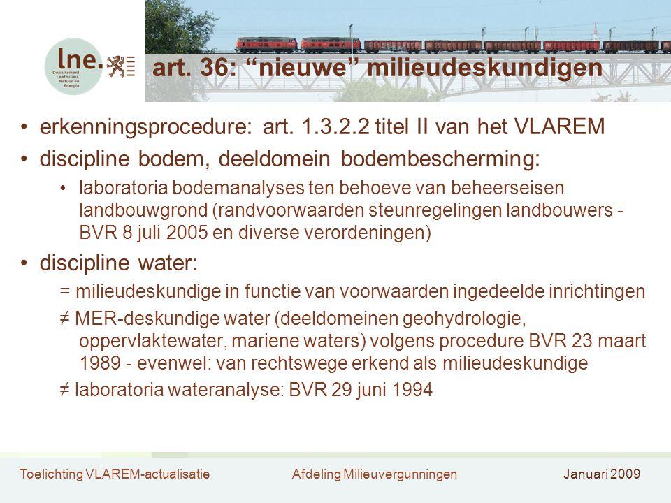 art. 36: nieuwe milieudeskundigen